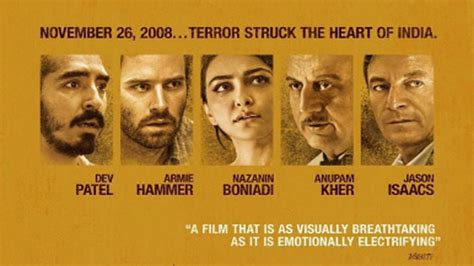 hotel mumbai poster based   terror attacks