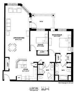 Luxury 2 bedroom apartment floor plan luxury 2 bedroom for Floor plans of modern apartments