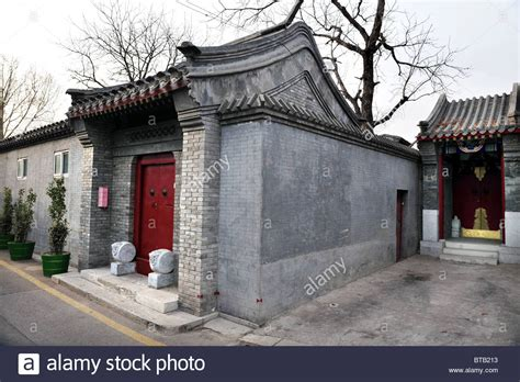 china house in a traditional house in a hutong in beijing china