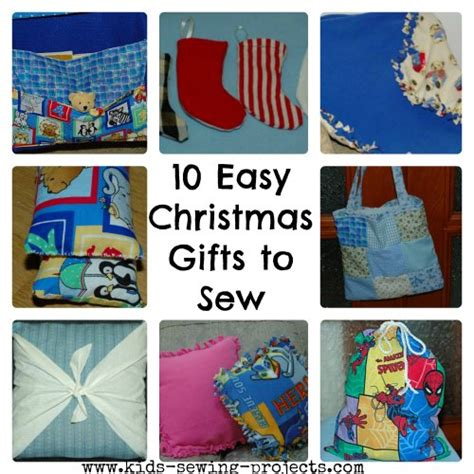 easy christmas gifts to sew