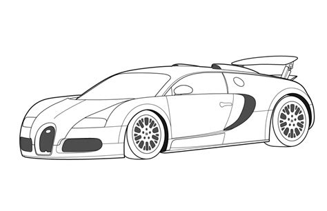 printable bugatti coloring pages  kids