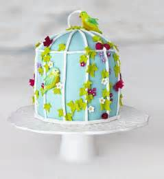exquisite cake decoration  easy birdsong bluebirds
