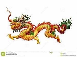 Chinese Dragon On White Background Stock Photo - Image ...