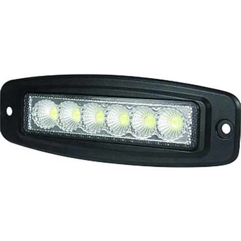 hella valuefit mini light bar 6 led 6 quot flush mount
