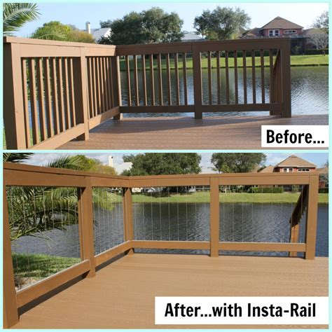Options For Deck Railings by Cable Railing System Prova Insta Rail Cable Railing