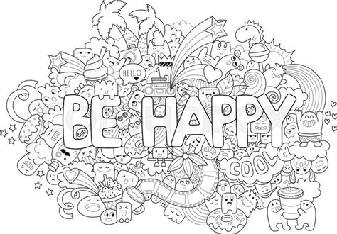 Printable Coloring Page For Adults With Cartoon Characters