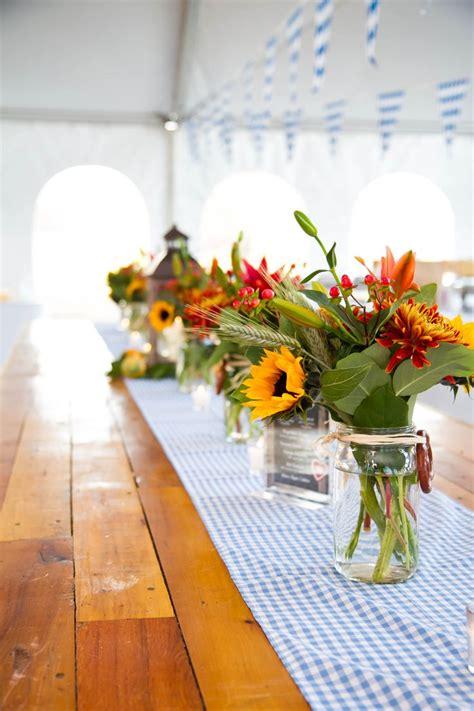 oktoberfest custom runners  floral centerpieces