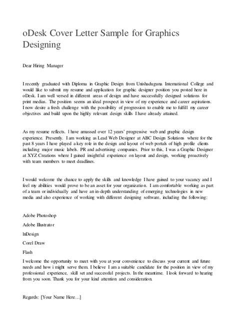 odesk cover letter sample  graphics designing