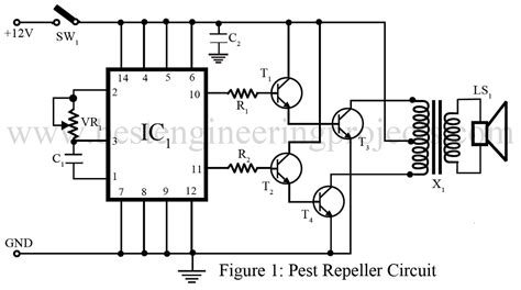 Pest Repeller Circuit Engineering Projects