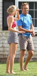 part   family taylor swift dons  vintage swimsuit