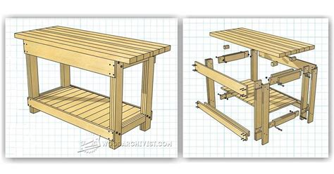 simple workbench plans woodarchivist