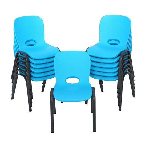 lifetime blue stacking chair set of 13 80475 the