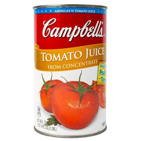tomato juice oz campbell tall case campbells extra webstaurantstore