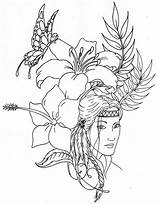 Native Coloring American Pages Printable Colouring Fairy Adult Imagixs Sand Painting Bing sketch template