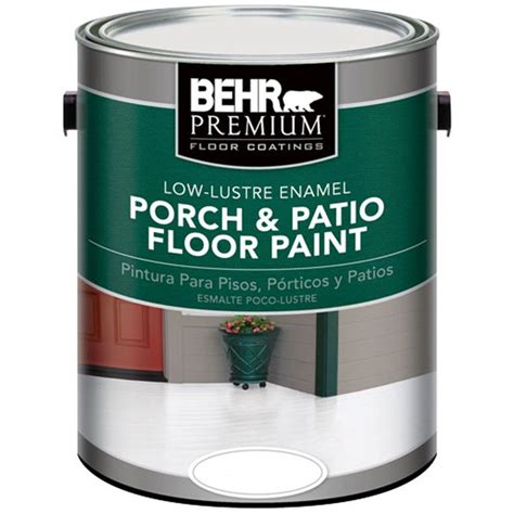 behr premium 1 gal base low lustre porch and patio