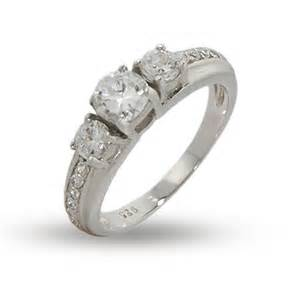 cz engagement rings that look real past present and future 3 cz engagement ring ebay