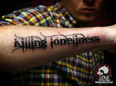 arm lettering tattoo  mad art tattoo