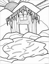 Cabin Coloring Winter Pages Hurry Log Printable Print Colorings Getdrawings Coloringpagesonly sketch template
