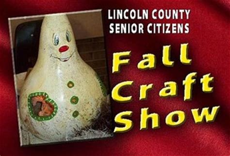senior citizens fall craft show oct  lincoln herald