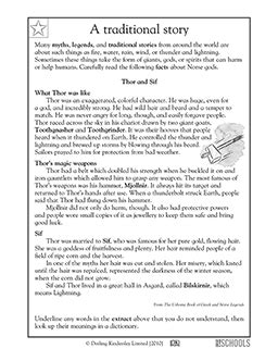 3rd grade Reading, Writing Worksheets: Reading