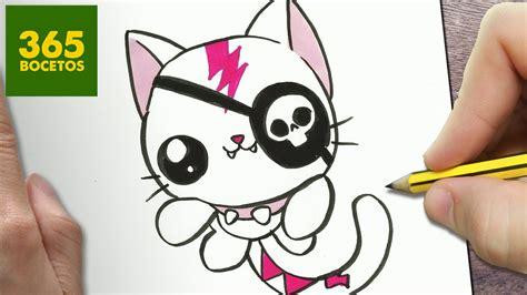 como dibujar un gato kawaii paso a paso dibujos kawaii faciles how t 365bocetos
