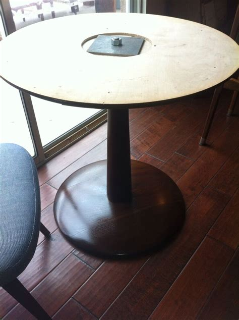 danish modern wood pedestal table base project saarinen