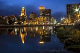Providence Rhode Island at Night