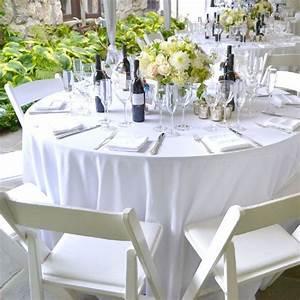 Nappe Blanche Tissu : nappe ronde blanche en tissu pour mariage et f tes drag es anahita ~ Teatrodelosmanantiales.com Idées de Décoration