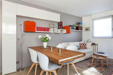 peinture meuble de cuisine grande pièce à vivre avec bureau salon salle à manger