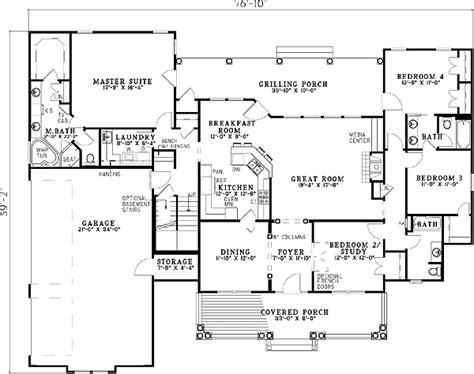 spectacular plan for bedroom house spectacular split bedroom house plan 59377nd 1st floor