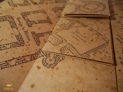 la carte du maraudeur potterheads quill
