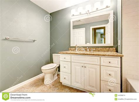 Bathroom Colors With White Cabinets by White Bathroom Vanity Cabinet With Granite Top Stock Photo