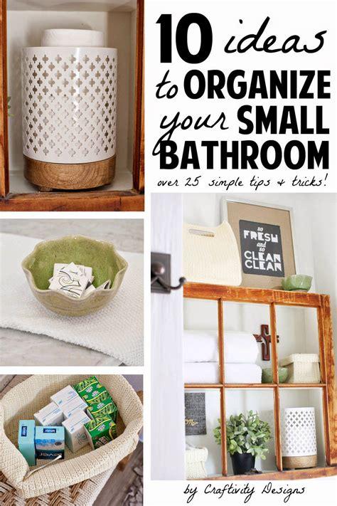 ideas  organize  small bathroom craftivity designs