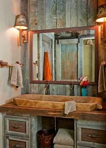 Badezimmer Waschtisch Holz : 23 fantastische rustikale badezimmer design ideen ~ Frokenaadalensverden.com Haus und Dekorationen