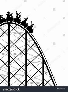 Silhouette Steep Roller Coaster Ride Stock Illustration ...