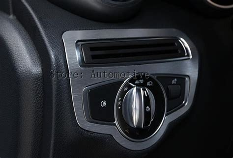 We offer new, oem and aftermarket mercedes auto parts and accessories at discount prices. Car Accessory For Mercedes Benz C Class W205 C200 C180 2015 2016 Headlight Button Cover Trim Car ...