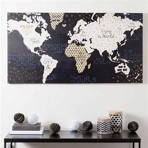 Tableau Maison Du Monde : toile carte du monde shiny world maisons du monde dream home pinterest deco carte du ~ Teatrodelosmanantiales.com Idées de Décoration