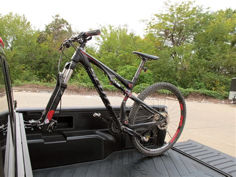bed bike rack rockymounts driveshaft sd truck bed rail bike carrier