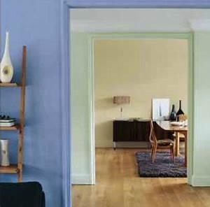 Salon Vert D Eau : marier les couleurs de peinture dans salon chambre ~ Zukunftsfamilie.com Idées de Décoration