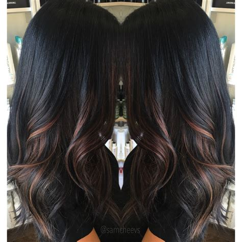Black Color For Hair by Highlights For Black Hair Hair Tips Hair Care In 2019