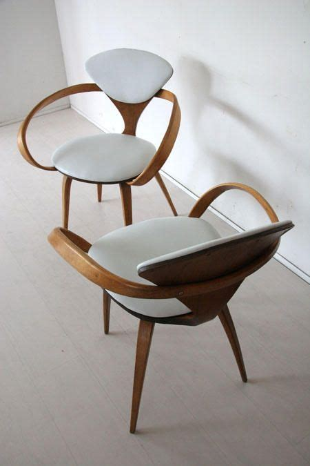 chaise cherner walnut seat chairs