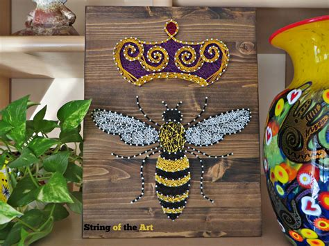string art kit queen bee string art bee diy kit