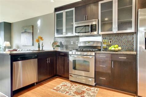 Ideas For Narrow Kitchens - small kitchens with dark cabinets design ideas designing idea