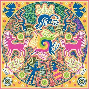 huichol, art, reinterpreted, on, behance