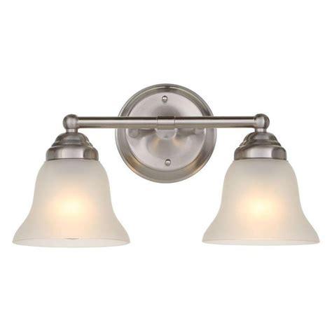 hton bay vanity lights hton bay 2 light brushed nickel vanity light d3279
