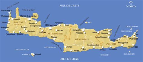 Carte Du Monde Grece Crete by Carte De La Cr 232 Te