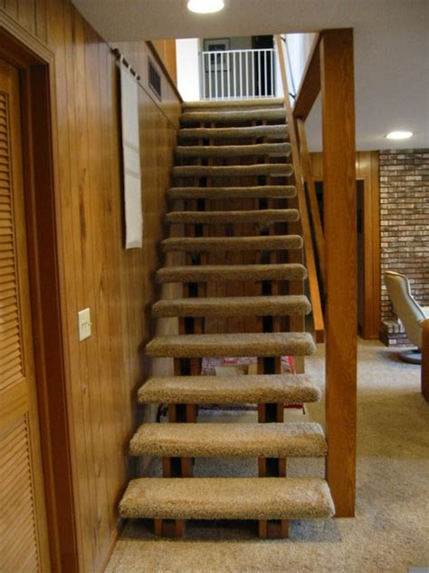 Cable Balcony Railing by Before And After Lower Level Stairs Remodel Traditional