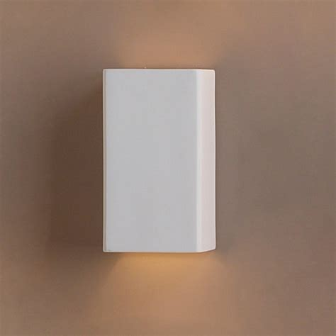 6 5 quot ceramic rectangle wall sconce contemporary ceramic
