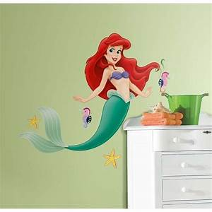 new large disney little mermaid wall decals ariel stickers With where to buy little mermaid wall decals