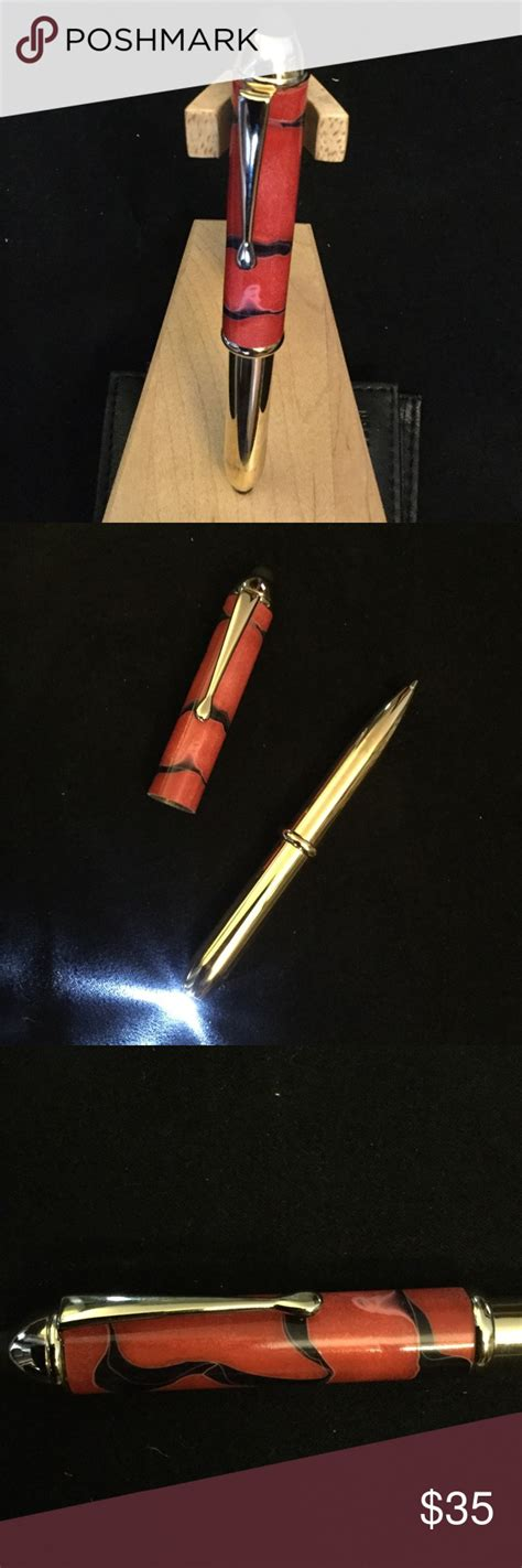 handmade mini ballpoint  touch stylus light